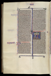 Historiated Initial To Acts, In 'The Ashridge Petrus Comestor'